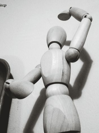 Stickfigure Anonymous Existence Wood Puppet
