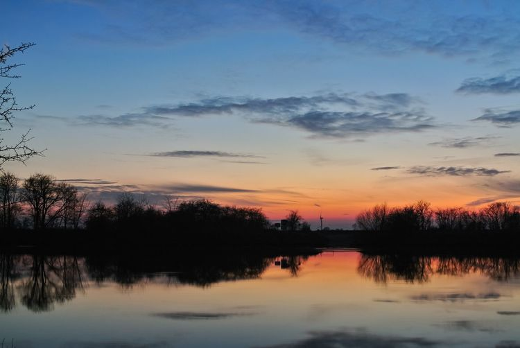Still nature Panorama Sun Clouds Cloud Sunset River Reflection Water Tree Beauty In Nature Sky Nature Lake Outdoors Day First Eyeem Photo