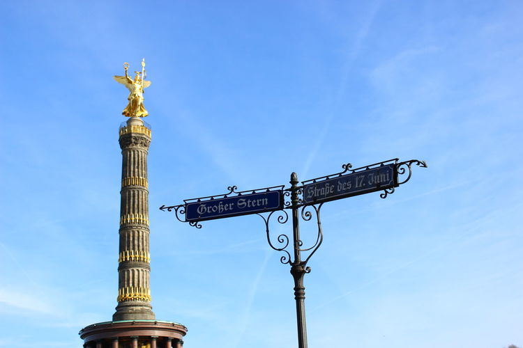 Architecture City Day Gold Goldelse No People Outdoors Sculpture Siegessäule  Siegessäule Berlin Sights Of Berlin Sky Victory Column Victory Column Berlin