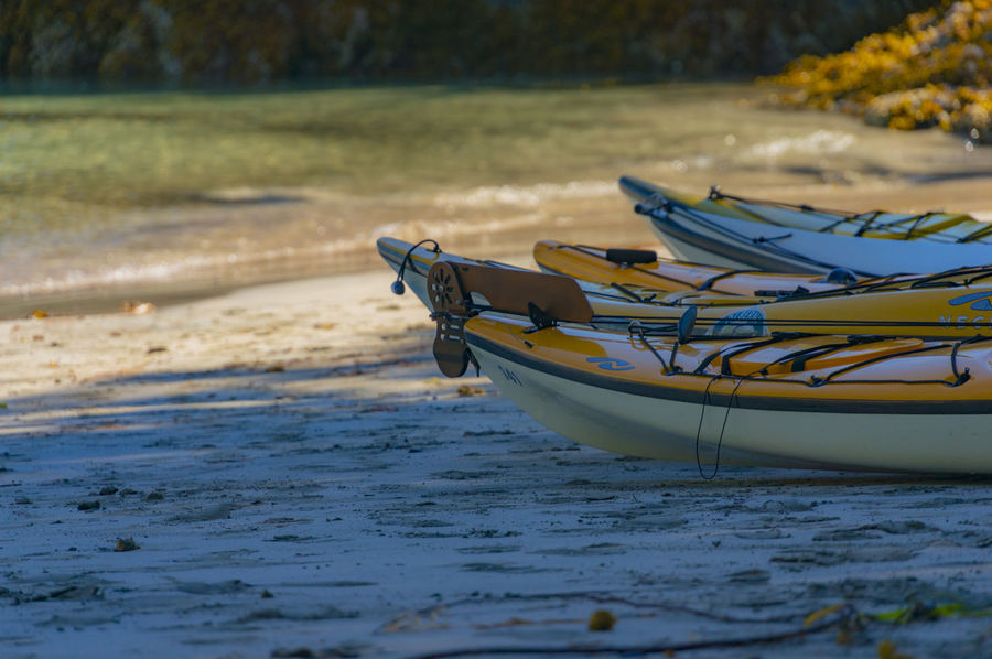 Sea kayaking near Nootka Island, July 2015 #beach #coast #kayak #ocean #oceankayak #outdoors #pacific #paddle #sand #sea #seakayak #shore #shoreline #tourism #travel #water #watersedge Beauty In Nature Boat Idyllic Nature No People Rippled Selective Focus Tranquility The Great Outdoors - 2017 EyeEm Awards