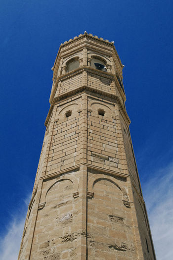 Architecture High Historical Building Lookingup Mahdia Mosque Old Buildings Sky And Clouds Tunisia Velvia100f