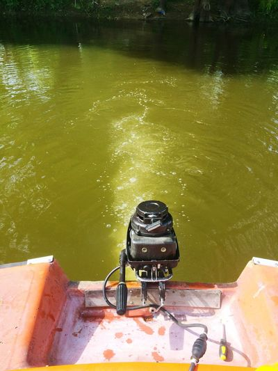 River Sava Summer Boat Repairs Testing Engine