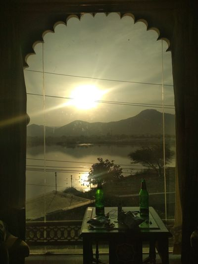 what an amazing city Nature Mountain Sunset Beauty In Nature Udaipur Rajasthan Rajasthandiaries Built Structure Rajwada