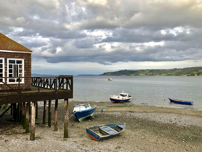 Costanera Dalcahue Fotografia Picoftheday Photooftheday Island Trip Photography Chile Chiloé, Chile Dalcahue Water Cloud - Sky Sky Sea Land Beach Nautical Vessel Nature Day Tranquility