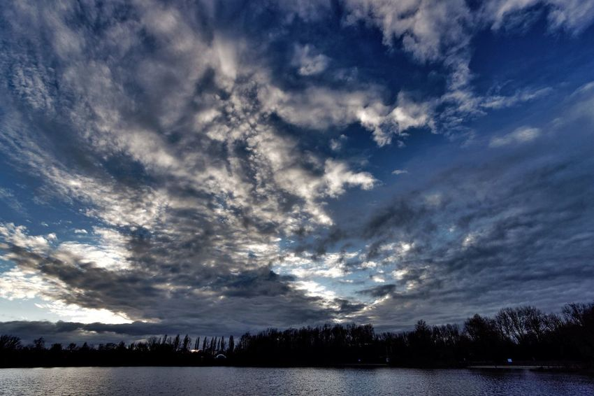 Sunset Dutch Landscape Clouds And Sky Melancholic Landscapes maintaining a Broad View Lake View Today's Hot Look