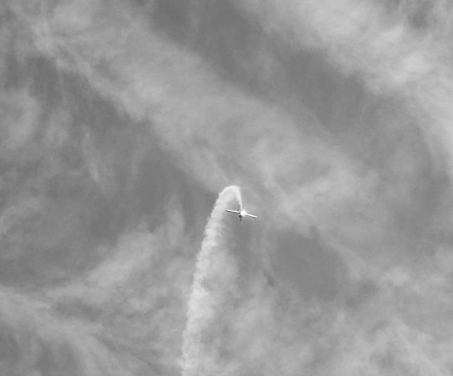 Cloud - Sky Air Vehicle Sky Airplane Low Angle View Flying Vapor Trail