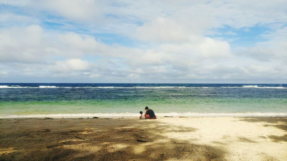 Outdoors Beach Sea Sand Cloud - Sky Travel Destinations Vacations Nature Beauty In Nature Sky Waves Beaches Philippines Son Quality Time Love