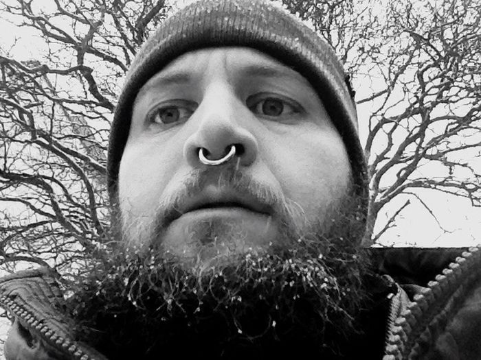 Blackandwhite Black & White Black And White Beard Winter Me Wasting Time Tree Trees