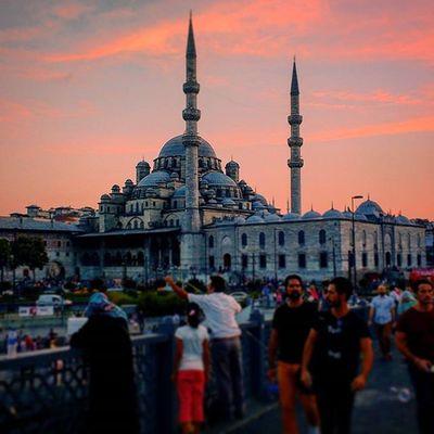 Sunset Istanbul Turkey Mosque Islamic Sky Architecture Jgc