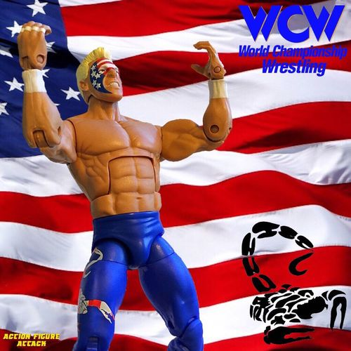 """The franchise of WCW is standing tall!!"" Wwe Wwemattel Mattel Mattycollector Actionfigure Actionfigures Actionfigurephotography Sting WCW"