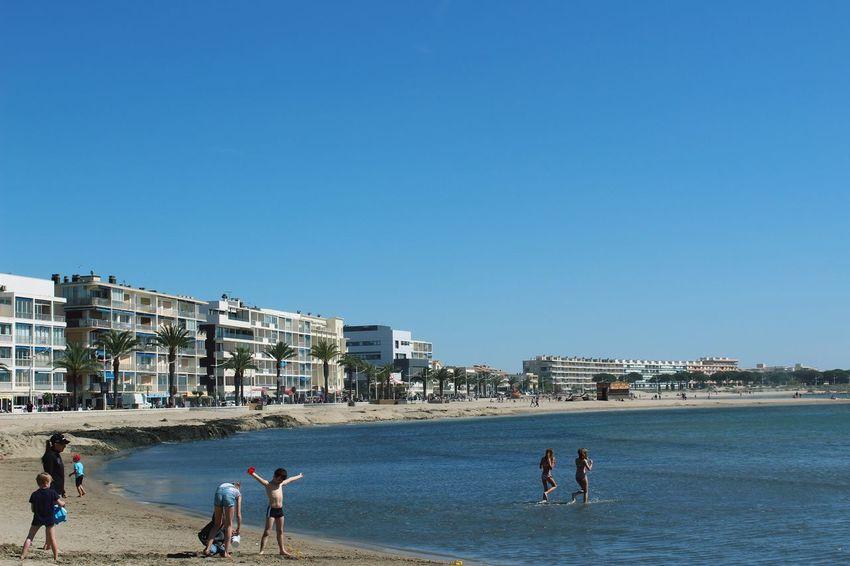 Beach Blue Clear Sky Lifestyles Leisure Activity Vacations Men Women
