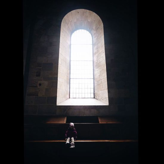 Easter Architecture Built Structure Real People One Person Window Arch Sunlight