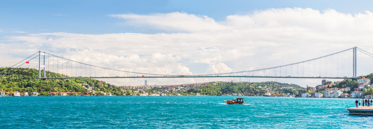 The Bosphorus Bridge (The second bridge aka FSM Bridge) Bosphorus Bosphorus Bridge Bridge City City Life Cityscapes Istanbul Istanbul Turkey Landscape Landscape_Collection Landscape_photography Natanomalous.com Nature Nature Photography Nature_collection Naturelovers Outdoors Sea Sea And Sky Sea View Seascape Seaside Spring Springtime Trees