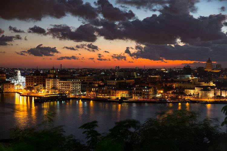 Old town havana at sunset