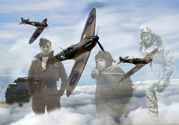 16th January 1943 21yrs Old Airplane Cairn On The Hill Flying Outdoors Spitfire Three Spitfires Crash