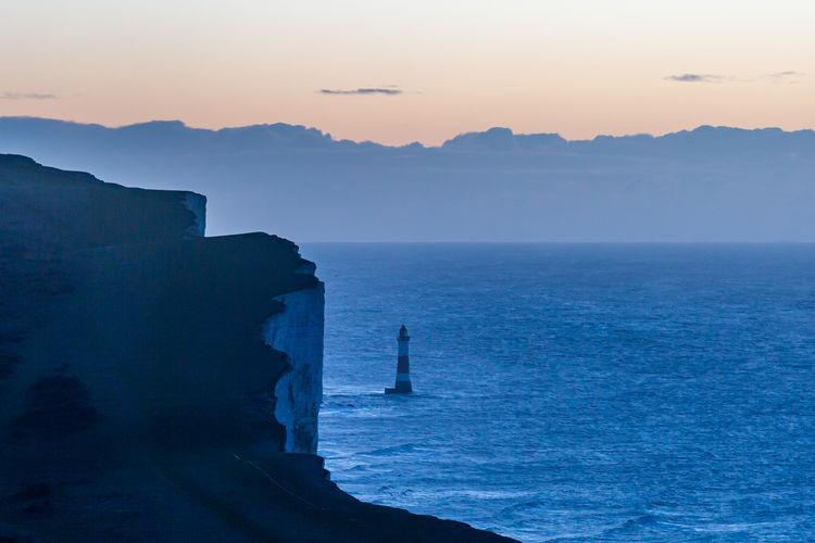 Sunrise at beachy head on the sussex coast
