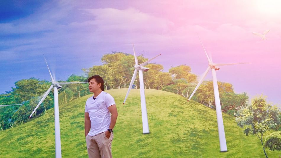 Wind Power Alternative Energy Wind Turbine Environmental Conservation Fuel And Power Generation Renewable Energy Windmill Rural Scene Environmental Issues Men Environment Nature Sustainable Resources Field Sustainable Lifestyle Environmentalist Electricity  One Person Power In Nature Day