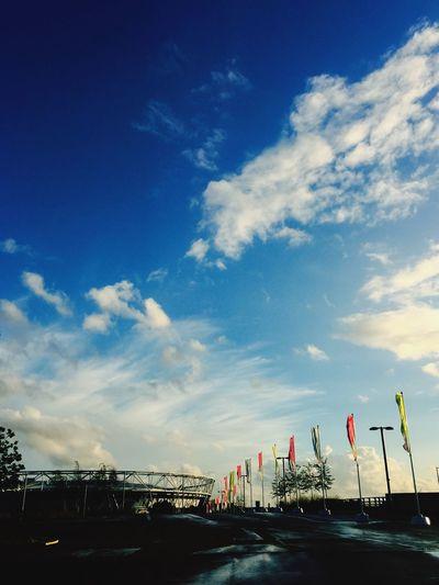Architecture Stadium Stratford Westham West Ham Utd Sunset #sun #clouds #skylovers #sky #nature #beautifulinnature #naturalbeauty #photography #landscape Building Sport Football IPhone IPhoneography London City