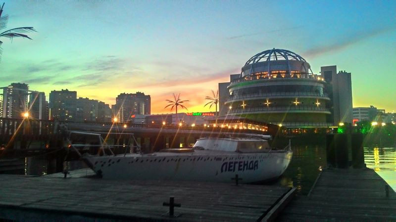 Sun Evening Sky River Beach Kazan Russia Lastdaysofspring Rivera