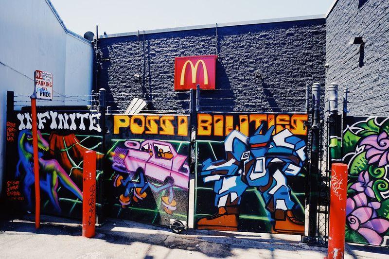 Infinite Possibilities Graffiti Built Structure Architecture Text Building Exterior Communication Wall - Building Feature Multi Colored Western Script Creativity Building Street Art