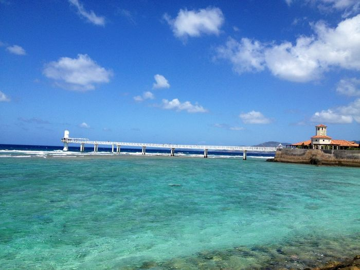 Busena Terrace OKINAWA, JAPAN Sky Cloud - Sky Water Sea Day Nature Transportation Blue Outdoors Beauty In Nature Vacations No People