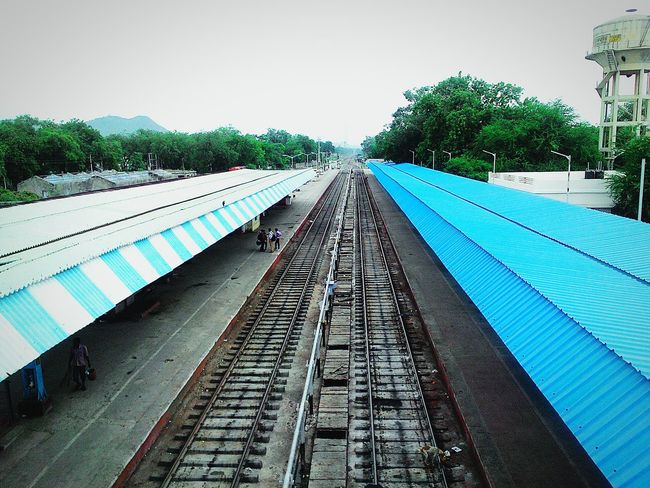 Train Railwaylines Lines Contrast Indianrailway Irctc