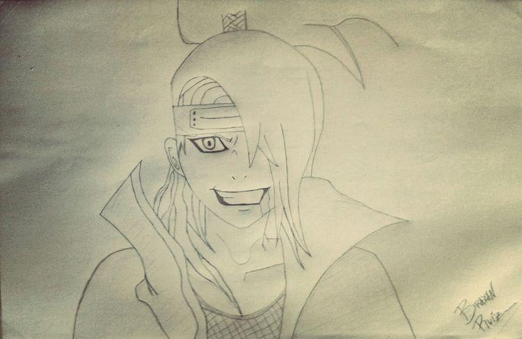 Deidara Anime Face termine mi dibujo 😌😊