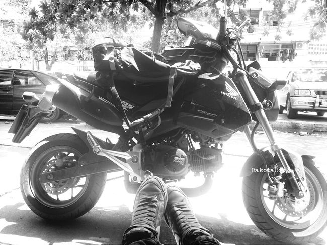 my journey, my adventure :) Starting A Trip Motorcycle Trip Black And White