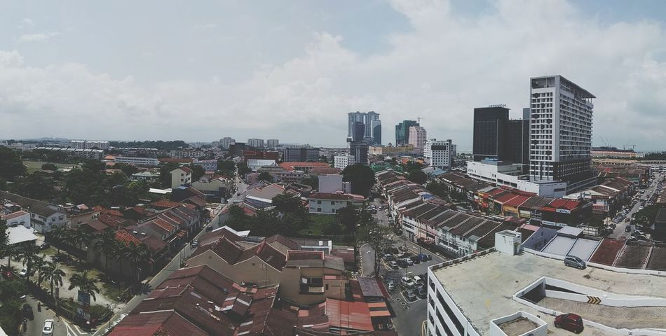 Malaccaheritagecity High Angle View Outdoors Cityscape Cloud - Sky Modern Urban Skyline Downtown District Skyscraper No People Building Exterior Architecture First Eyeem Photo