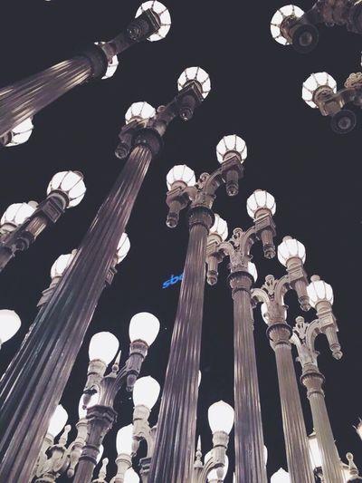 LACMA📍 Los Angeles, California Lacma Lights Lacma Low Angle View Built Structure Architectural Column Monument Architecture Sky History Travel Destinations City