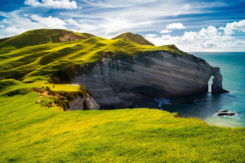 Irland Coast Coastline Green Nature Ocean View Beauty In Nature Blue Cloud - Sky Coast Green Color Horizon Over Water Irland Land Landscape Mountain Nature No People Nobody Ocean Plant Scenery Scenics - Nature Sky Tranquil Scene Tranquility