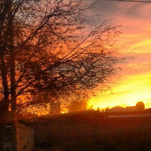 Breakingdown Infront Home Morning Happy Sun Beautiful Sky