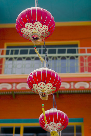 Low Angle View Of Lanterns