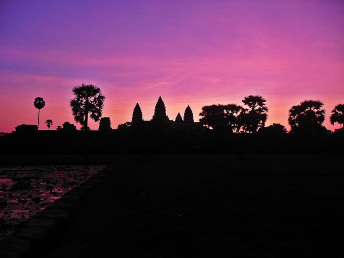 Ancient Civilization Angkor Wat Angkor Wat Silhouette Astonishing Colorful Sunrise Cultures Dramatic Sunrise EyeEm Sunrise EyeEm Sunrise Shots Khmer Empire No People Place Of Worship Sunrise Sunrise Silhouette Tranquility