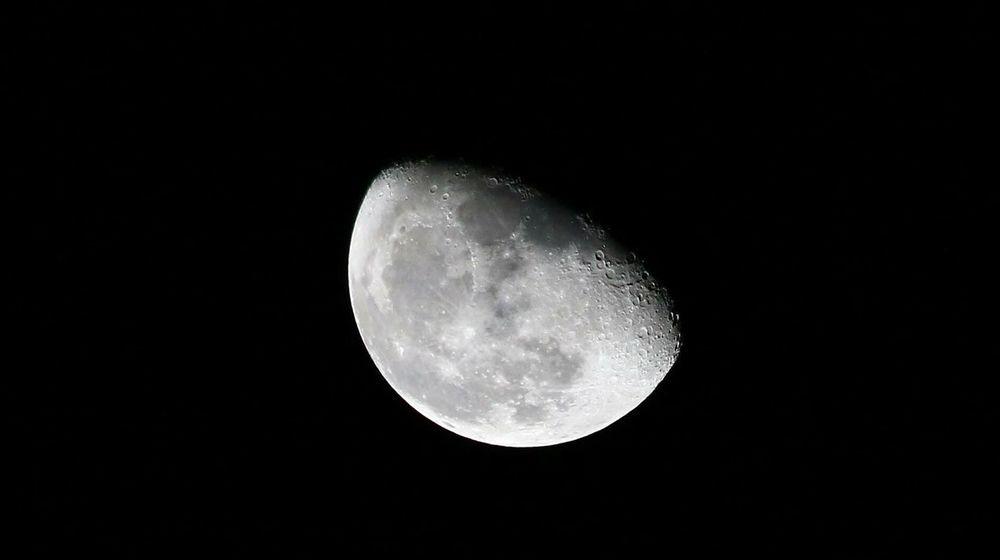 Moon Half Moon Moon Craters Craters
