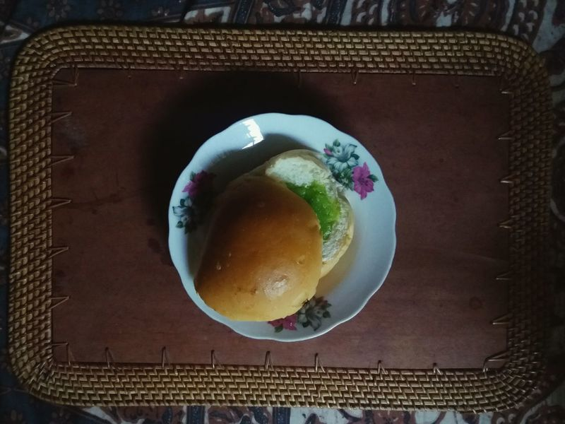 """Today's breakfast: starting with a bun spread with """"selai srikaya"""" aka one of the most delicious jams in the world! 😆 Srikaya Kaya Toast Bread Buns Breakfast Indonesian Food Traditional Food"""