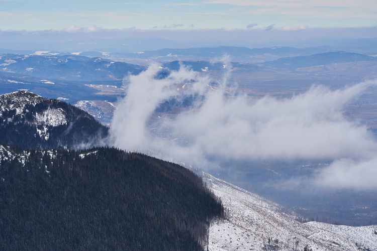 High Tatra in winter Beauty In Nature Nature Day Winter Snow Scenics - Nature Mountain Sky Cloud - Sky No People Outdoors Landscape Mountain Range Land