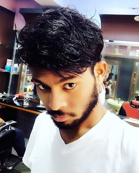 Soft Touch Fair Skin Hair Style Beared Look Selfie Portrait Dawood Nurson Mallik Indoors  Young Adult One Person Real People Day Close-up People