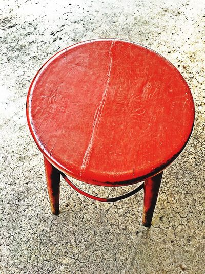 Vintage red round chair on cement Close-up Circle Retro Old No People Sit Wallpaper Art Relaxing Decoration Texture Backgrounds Design Round Chair Round Red Vintage Chair No People Indoors  Day