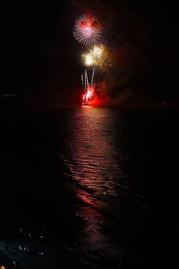 Bright Dark Fireworks Huahin New Year NewYearFireworks Night Lights Night Photography Smoke Thailand Beach Boom By The Beach Celebrations Firework Display Joy Light Show Night Night Skies Reflections Sand Sea Sea And Sky Water Woonhong
