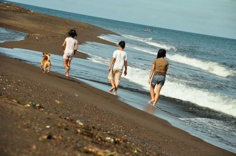 Sea Go For A Walk Enjoying The Sun