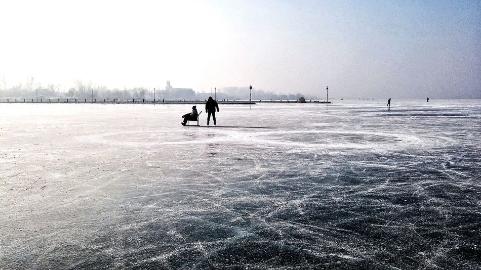 Infinity Infinity ∞ Winter Snow Couple Landscape Ice Rink People Ice