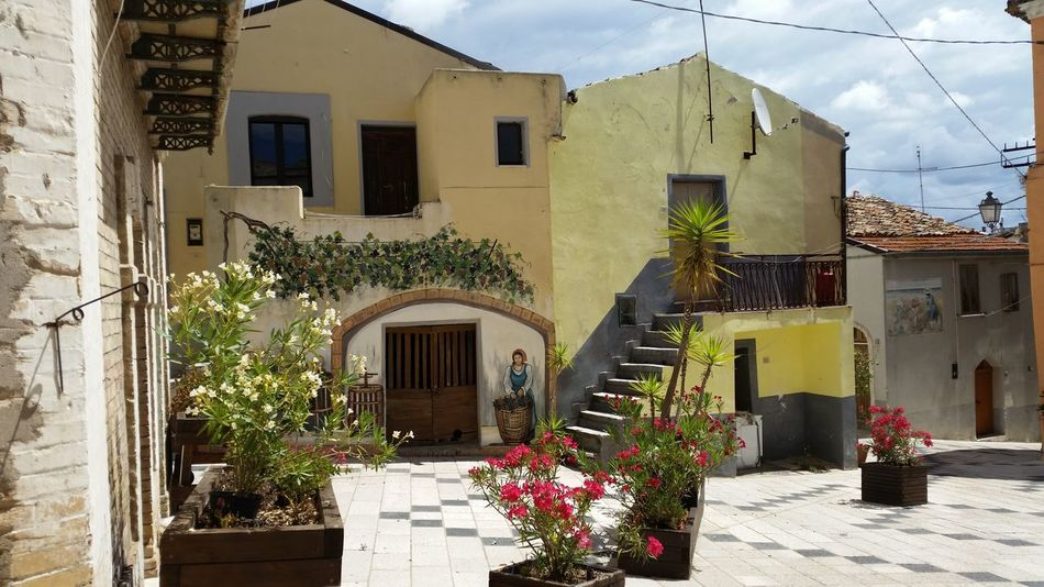 Architecture Balcony Building Exterior Campobasso Campomarino House Molise Mural Piazza Piazzetta Residential Structure