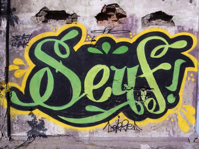 Graffiti with reduced male name Seyfi from Seyfyatdin Close-up Communication Day Graffiti Male Muslim Name No People Outdoors Reduced Seyfi Seyfyatdin Text Tipe Word