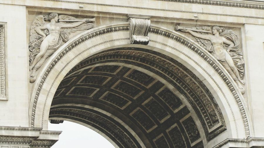 Triumphal Arch Arch Architecture Built Structure Low Angle View No People Day Outdoors Paris France Triumph Victory
