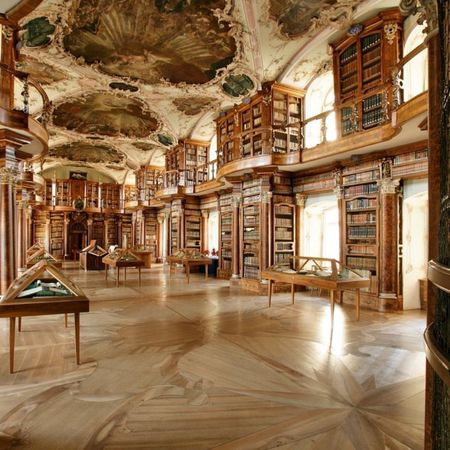 Architecture Luxury Antique Bookshelf Entrance Hall Indoors  Library Fresco No People Day Library Bibliotheque Gall Gallery Place Of Worship Building Exterior Built Structure Books Globe Baroque
