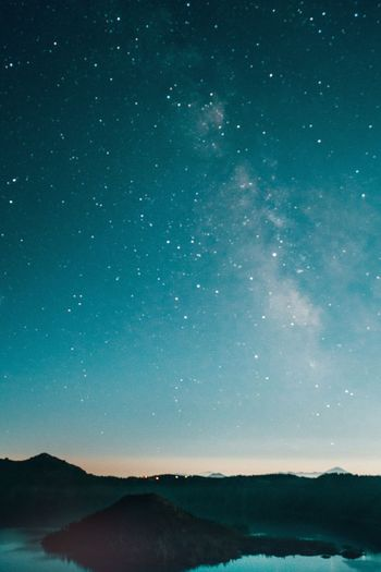 Star - Space Astronomy Night Space Sky Scenics - Nature Beauty In Nature Constellation Star Field Galaxy Lake Mountain Landscape Science Tranquility Environment Tranquil Scene Star Nature
