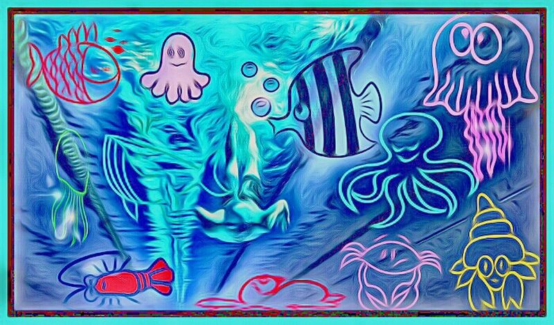 Swimming With The Fish Cartoonized Ocean Wildlife Playing Around!  Copy And Paste Imagination Land. Creativity Like This Or My Monsters Will Get You! Hello To My Eyeem Friends! Happy Sunday Everyone  Cheese! Ubu&I'llbme Colorful Tranquility Vibrant Color EyeEm Best Shots Majestic Multi Colored The Creative - 2018 EyeEm Awards