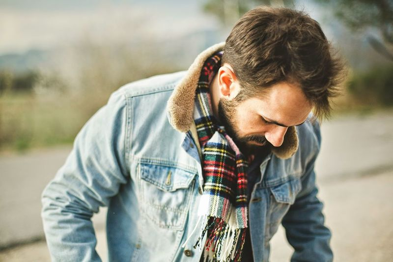 Adult Adults Only Beard Casual Clothing Close-up Day Males  Men One Man Only One Person One Young Man Only Only Men Outdoors People Plaid Shirt  Real People Sunglasses Young Adult Youth Culture