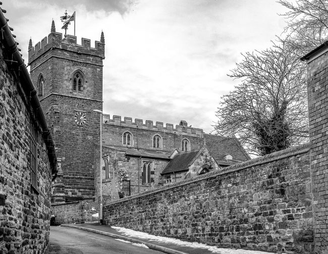 Church of Saint George the Martyr from Church Hill, Wootton, Northamptonshire Northamptonshire Blackandwhite Black And White Monochrome Street FUJIFILM X-T2 Wootton Rural Village Church Architecture Building Exterior Built Structure Historic Building